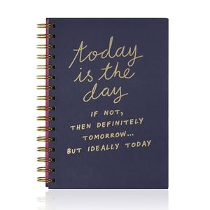 "CAHIER NPW - Cahier A5 à spirales ""Today is the day"""