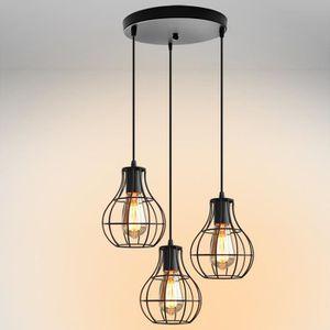 LUSTRE ET SUSPENSION Plafonnier Industriel Lustre E27 Trois Lumières Ar