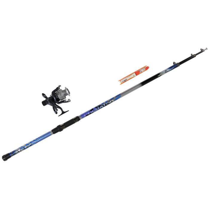 DRACHKO Canne à pêche combo carnassiers - Ligne montée - 3,50 m