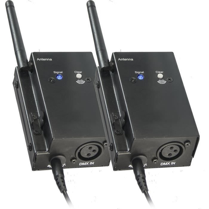 IBIZA LIGHT WD200SET Système D'émetteur / Récepteur DMX Sans Fil - 2.4ghz