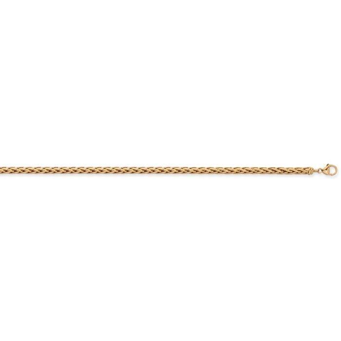 Bracelet maille palmier or jaune 9 carats