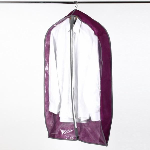 housse de vetement housse pour chemises et vestes achat vente housse de rangement housse de. Black Bedroom Furniture Sets. Home Design Ideas