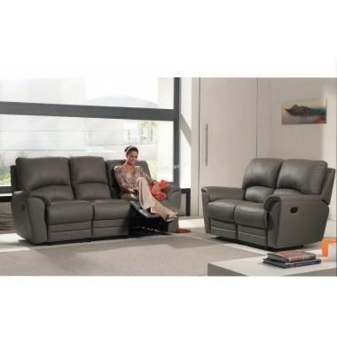 salon cuir 3pl+2pl+1pl design relax modele Leopard - Achat / Vente ...