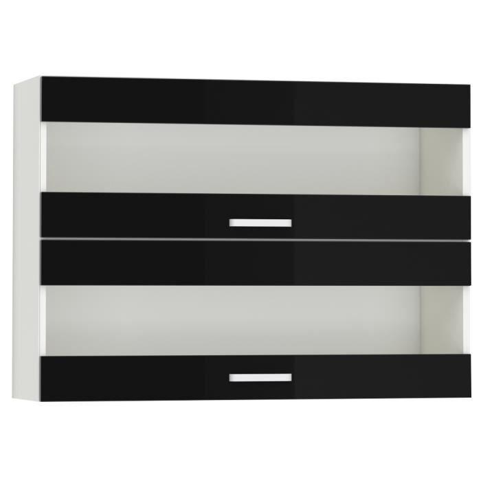 porte cuisine noir laque achat vente porte cuisine noir laque pas cher cdiscount. Black Bedroom Furniture Sets. Home Design Ideas