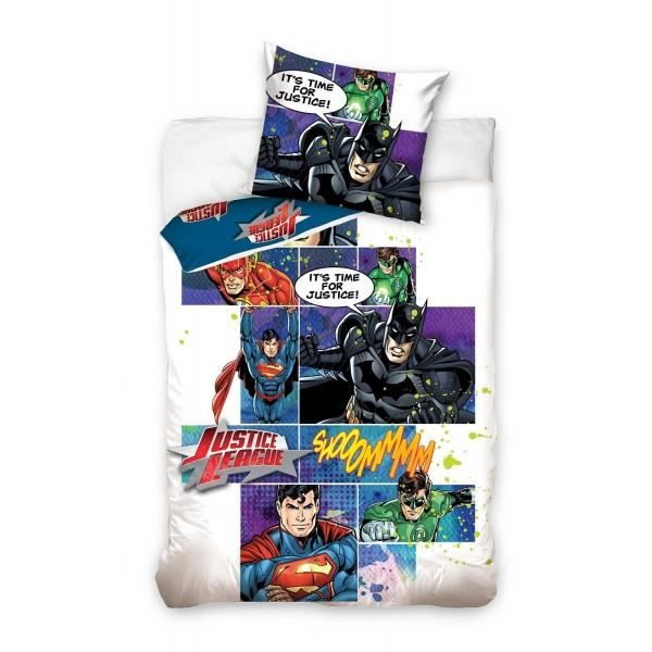 Parure De Lit Batman Superman Justice League Achat Vente Parure