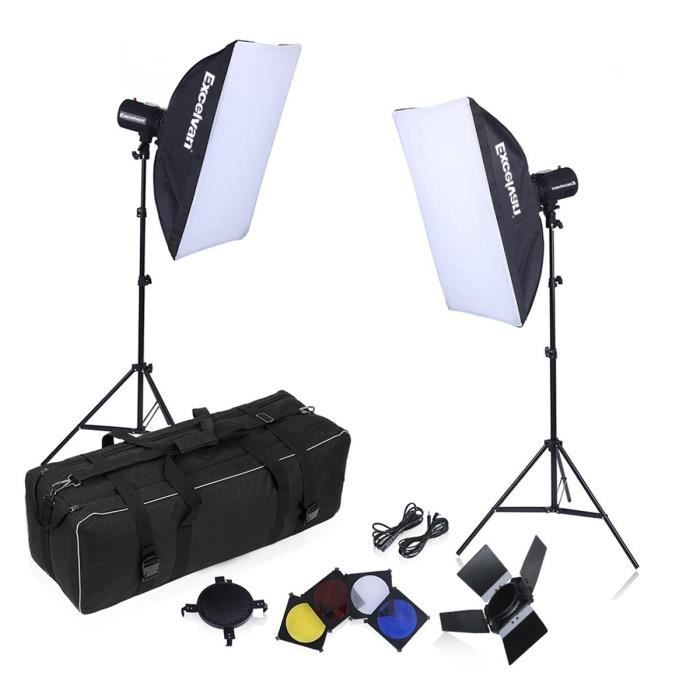 LAMPE ESCLAVE - FLASH Kit Eclairage Studio Photo Excelvan SHL-110 (160W