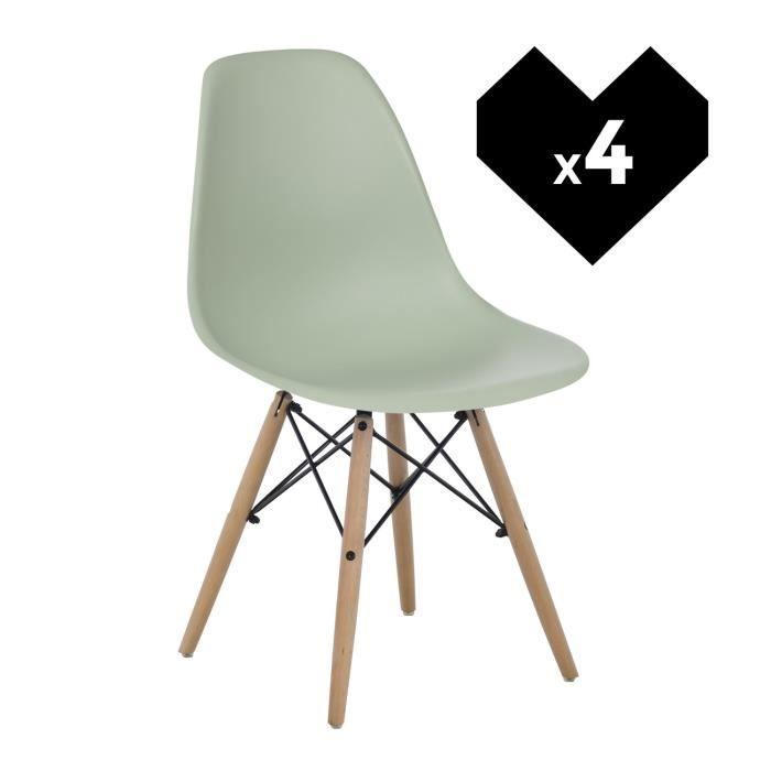 De Bois Naturel Design Scandinave Achat 4 Ims Lot Céladon Chaises ZuPkXTOiw