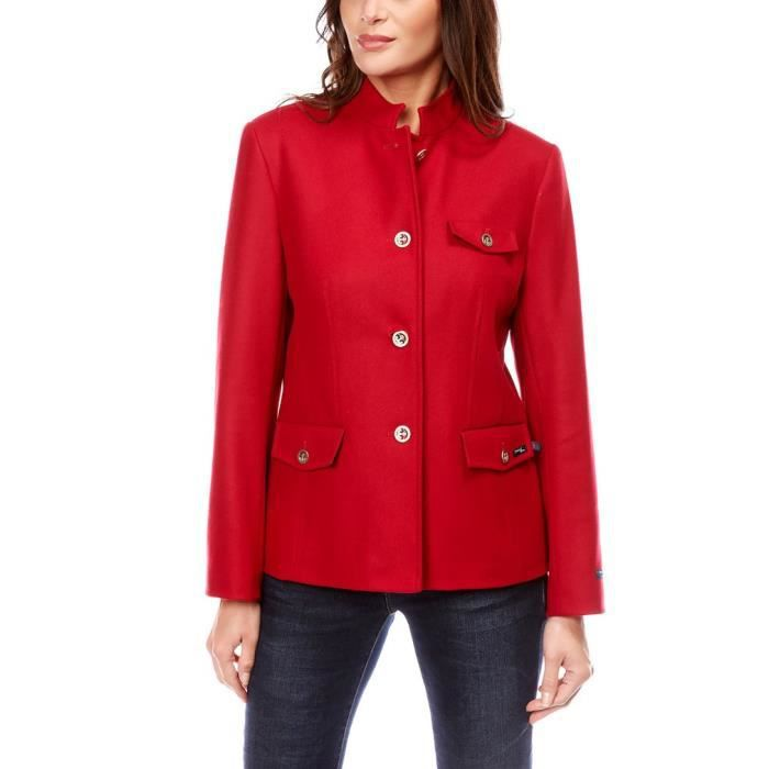 f01073143f Veste Femme Laine Made in France DALMARD MARINE Rouge Rouge - Achat ...