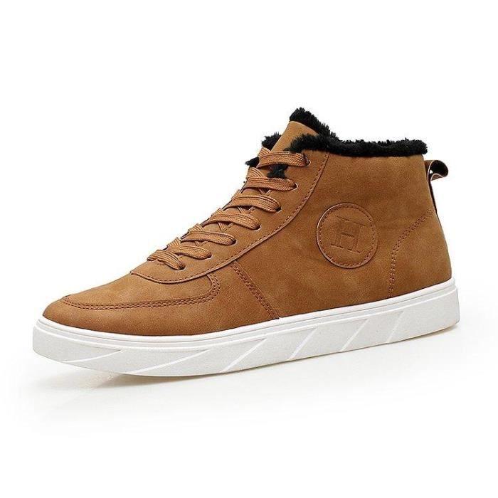 Chaussure De Trail Lacets Doux Classique Mode Compensé Slip-On Casual Homme Jaune 41 R44570652_013-1