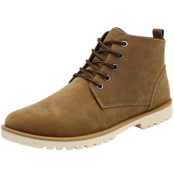Bottines hommes Super Antidérapant décontractées Chaussures pour hommes Durable Garder au chaud Chaussure homm dssx321jaune43