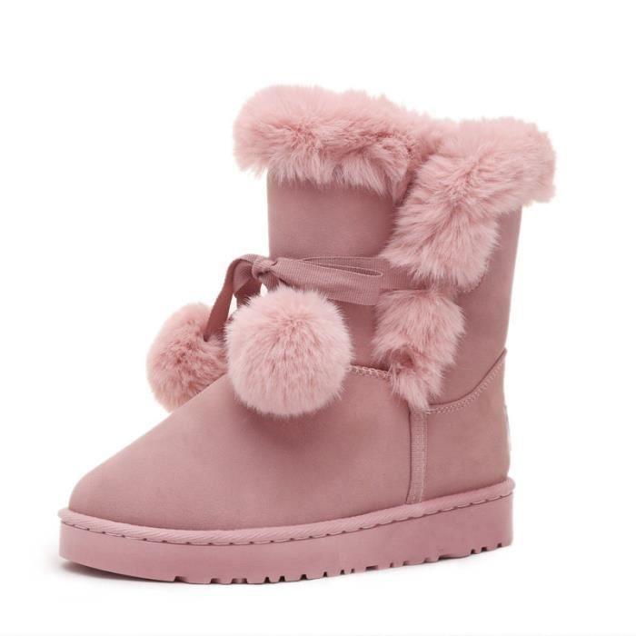 Bottes de neige chaude aux femmes dans les chaussures en coton à tube