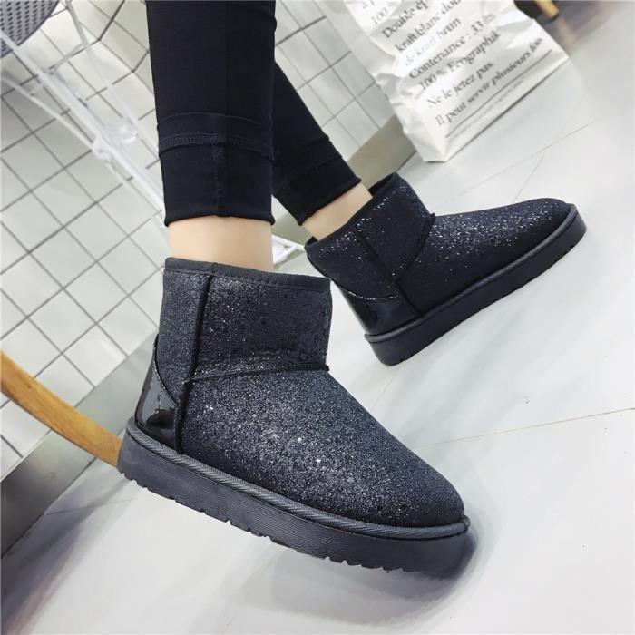 Bottes de neiges Femmes Mode Beau Nouvelle Mode Chaussures Anti-Glissement Plus Taille 36-40 aglwH