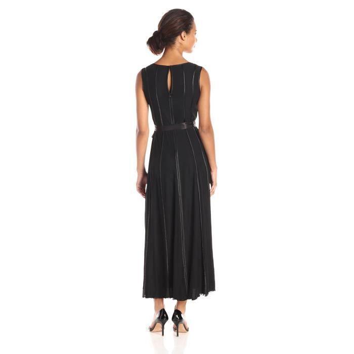S.l. Fashions Robe noire longue en satin Entretenu des femmes