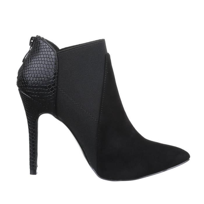 Femme chaussures bottillon bottes noir 41