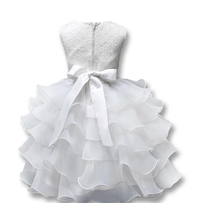 Robe Fille Mariage Sans Manches Enfant Robe de Mariage Pour Les Parties