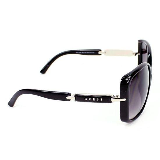 Lunettes de soleil Guess GU7296 Noir - Argent, … Noir, Argent - Achat    Vente lunettes de soleil Femme - Soldes  dès le 9 janvier ! Cdiscount 5a0a783709e0