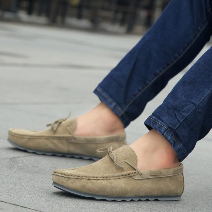 Hommes Casual Mocassins Suede Mode Chaussures conduite