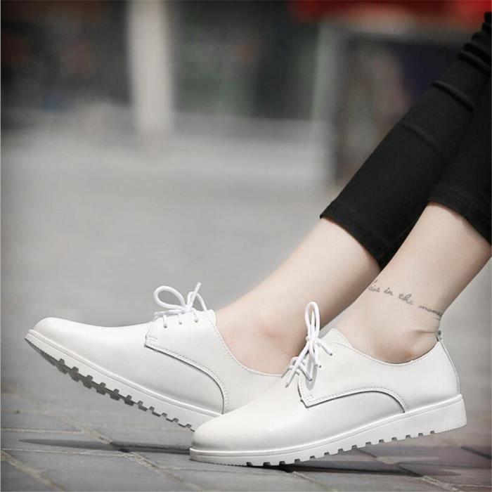 Chaussures Femmes Cuir Occasionnelles Comfortable Chaussure BLKG-XZ042Noir39