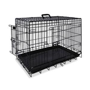 NOBBY Cage de transport métallique noire pour chien 78 x 55 x 62cm