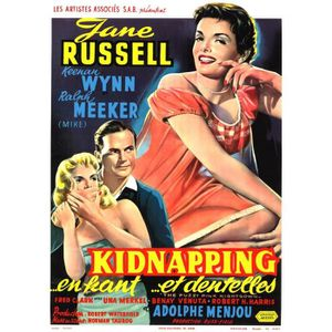 AFFICHE - POSTER KIDNAPPING EN DENTELLES J Russell reproduction pos