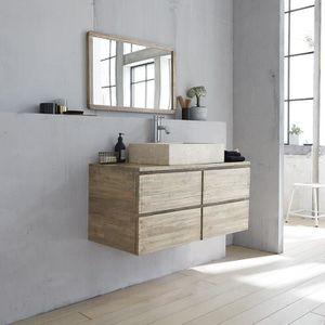 Meuble salle de bain bois 100 - Achat / Vente pas cher