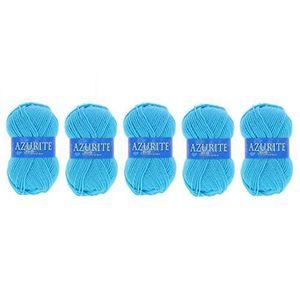 e2a9d6d02313 LAINE TRICOT - PELOTE Lot 5 Pelote de laine Azurite 100% Acrylique Trico