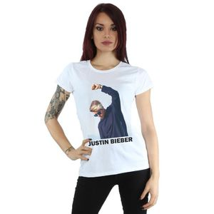 T-SHIRT Justin Bieber Femme Shaded Pose T-Shirt