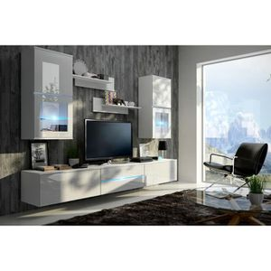 MEUBLE TV MURAL Meuble de salon, meuble TV complet suspendu BILBAO