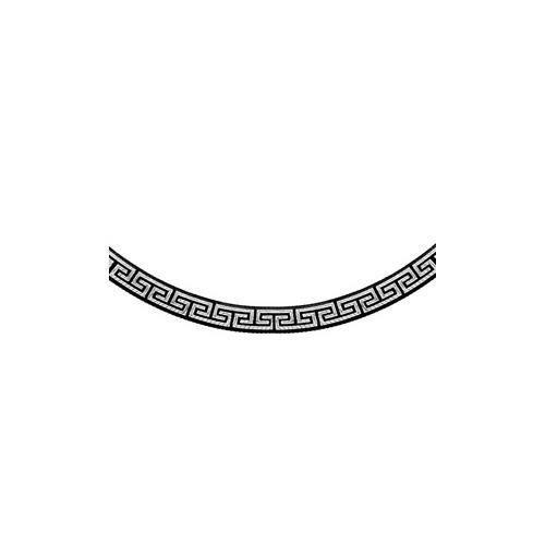 Collier argent rhodié motif grec traitement noir 4