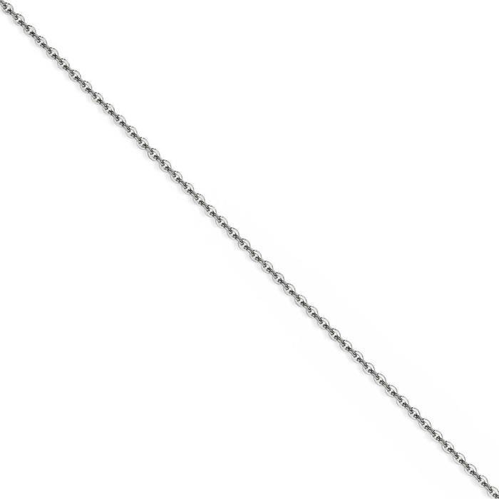 Acier inoxydable 2,3 mm câble chaîne collier-16 cm