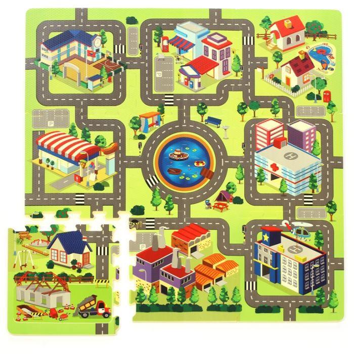 tapis puzzle circuit de route 934740412 achat vente tapis puzzle cdiscount. Black Bedroom Furniture Sets. Home Design Ideas