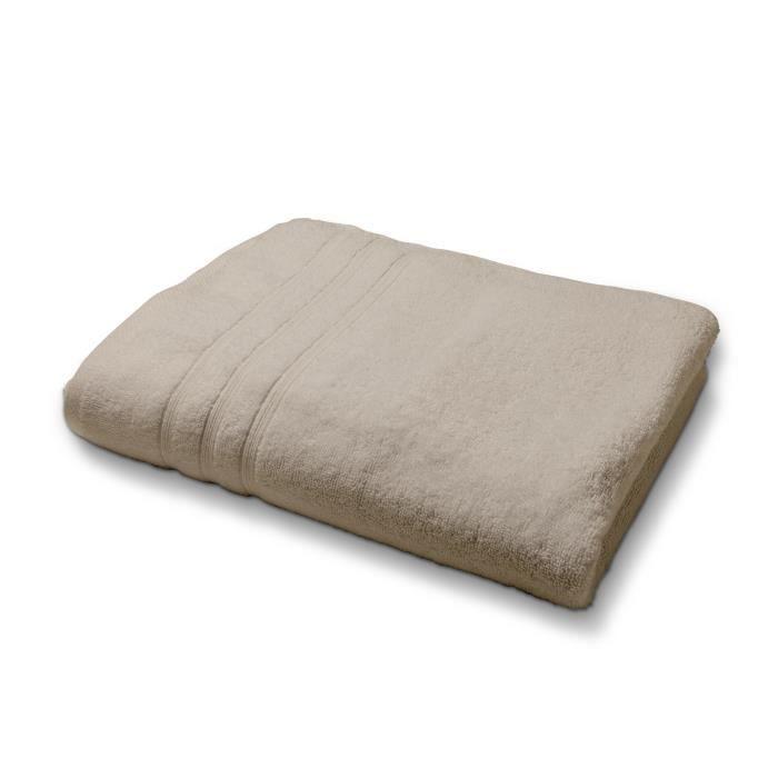 SERVIETTES DE BAIN TODAY Drap de douche MASTIC 100% coton - 70x130 cm