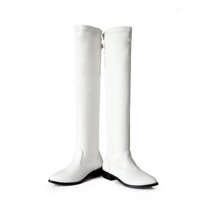 martin boots-Pure Color talonpais bout pointu Bottes femme