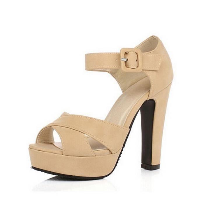 Chaussures avec boucle cheville d'été Femmes Sa... TfRH9GJg