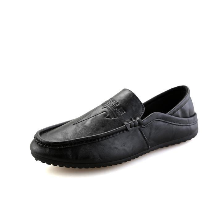 Nouveau Casual Homme Mocassins cuir Chaussure Business Chaussure Une pédale