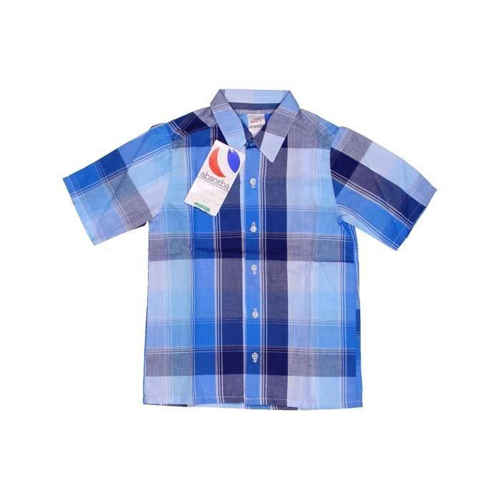 5e63025fc5c5d Chemise manches courtes enfant garçon ABSORBA 5 ans bleu été #952164 -  207225285