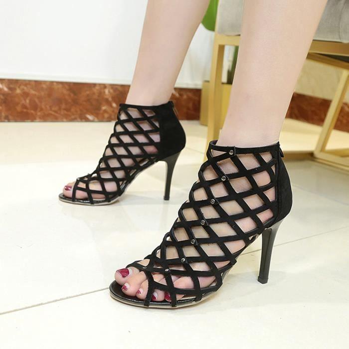 SKY-Maria Dame Mode Chaussures Talon Aiguille Été Des Sandales Femmes  Grande Taille Pompes Lumière e5763758c450