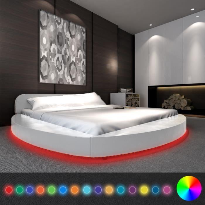 lit rond avec matelas et sommier - achat / vente lit rond avec