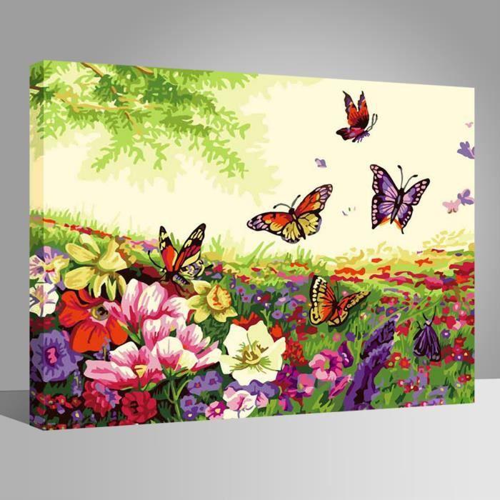 papillon peintures diy 40x50cm avoir diy peinture cadre toile peinture tableau art d co cadeaux. Black Bedroom Furniture Sets. Home Design Ideas