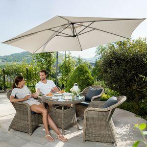 cheap parasol parasol dport beige en aluminium housse with housse de parasol gifi. Black Bedroom Furniture Sets. Home Design Ideas