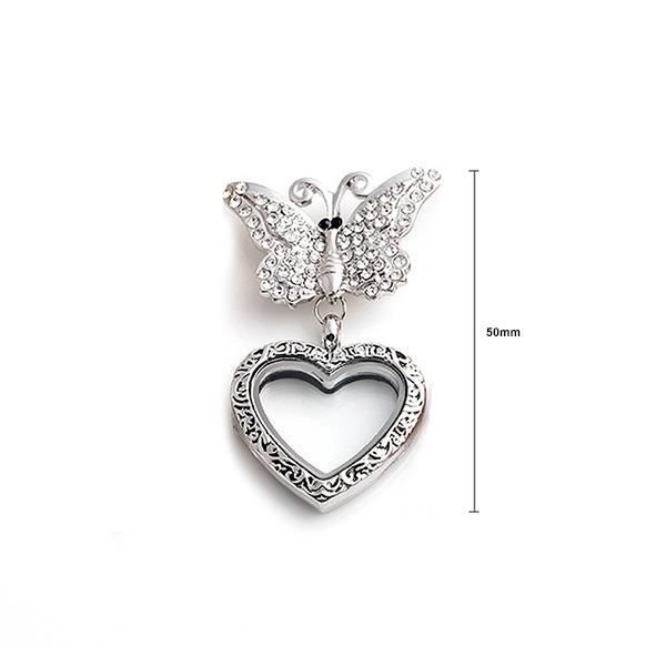 Glamorousky Broche papillon blanc avec cristal autrichien (24387)