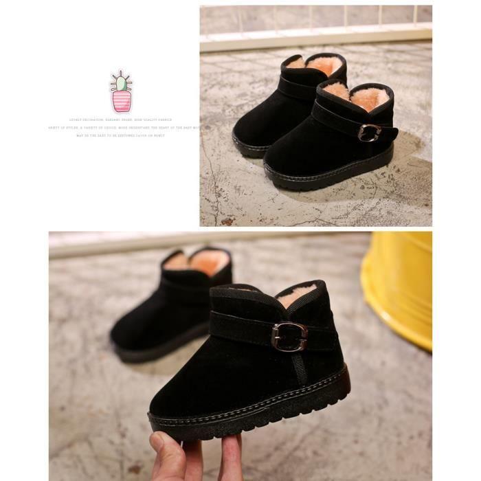 Chaussures pour enfants chaudes Conservez les bottes de neige en peluche chaude
