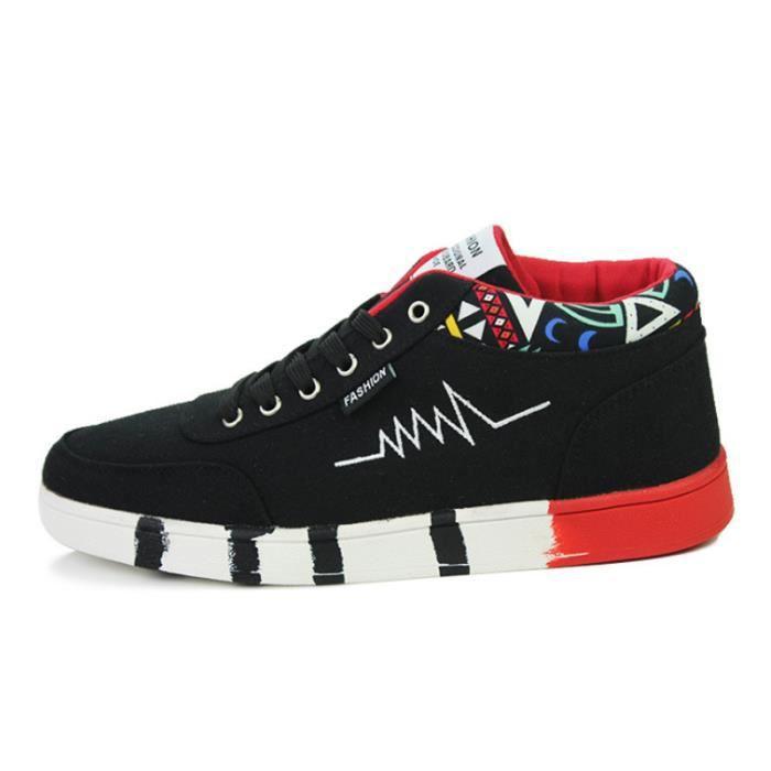 Chaussures De Sport Pour Hommes en daim Textile De Course Casual BDG-XZ119Rouge39 K6kMMZwI