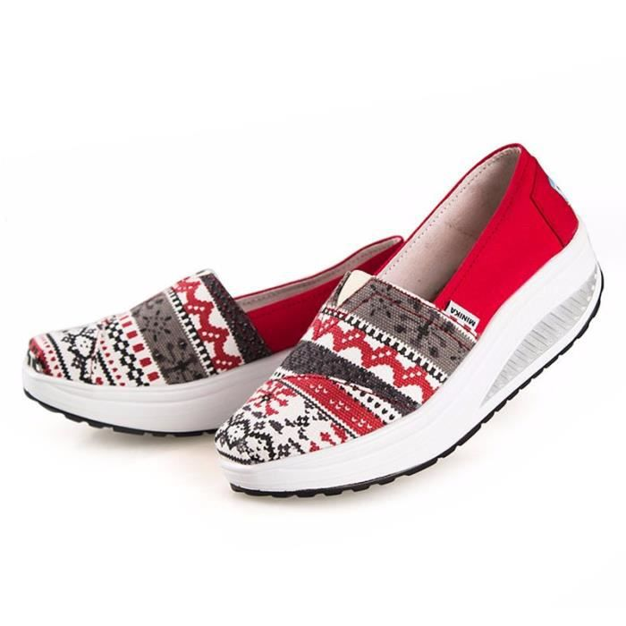 Chaussures Femme Printemps Été à fond épaiséChaussure BJXG-XZ064Marron39 tlguXn79j