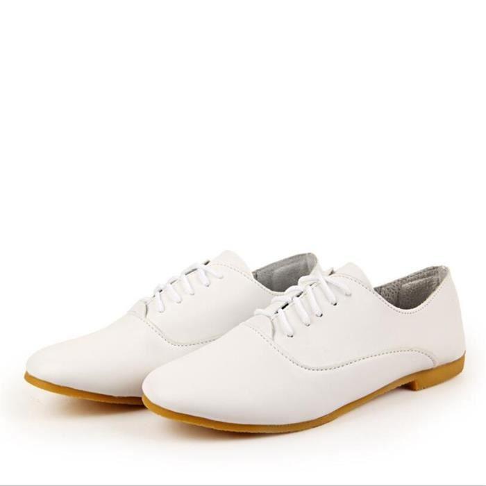 Derby Femmes Printemps Été Comfortable Mode Chaussures CHT-XZ059Rouge40 e2FplRMqn