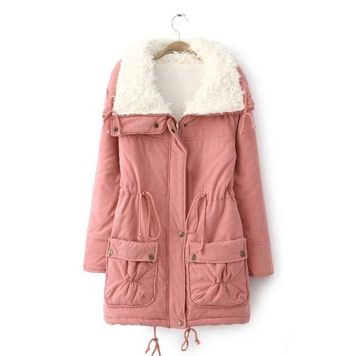 Longue Outwear Parka Veste Manteauxqinhig3354qinhig3354 Manteau Winter Fourrure Femmes Slim Décolleté q8ZxC0w5