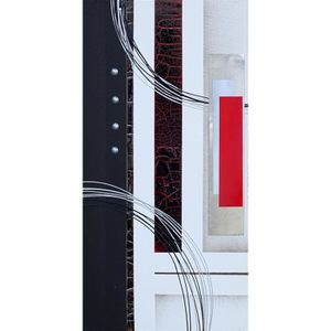 TABLEAU - TOILE SQUARE Tableau déco toile peinte à la main 30x60 c