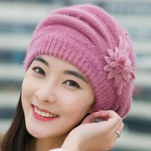 02d8fe14d9f BONNET - CAGOULE Femmes Mode Fleur Crochet Knit Bonnet hiver chaud ...