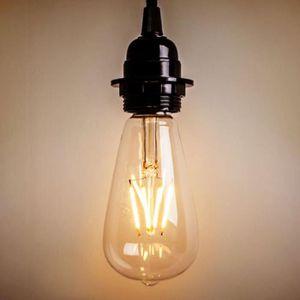 AMPOULE - LED 4W Edison ST64 E27 ampoule à filament rétro Vintag