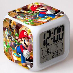 RÉVEIL ENFANT Super Mario Run les enfants jouet réveil horloge m